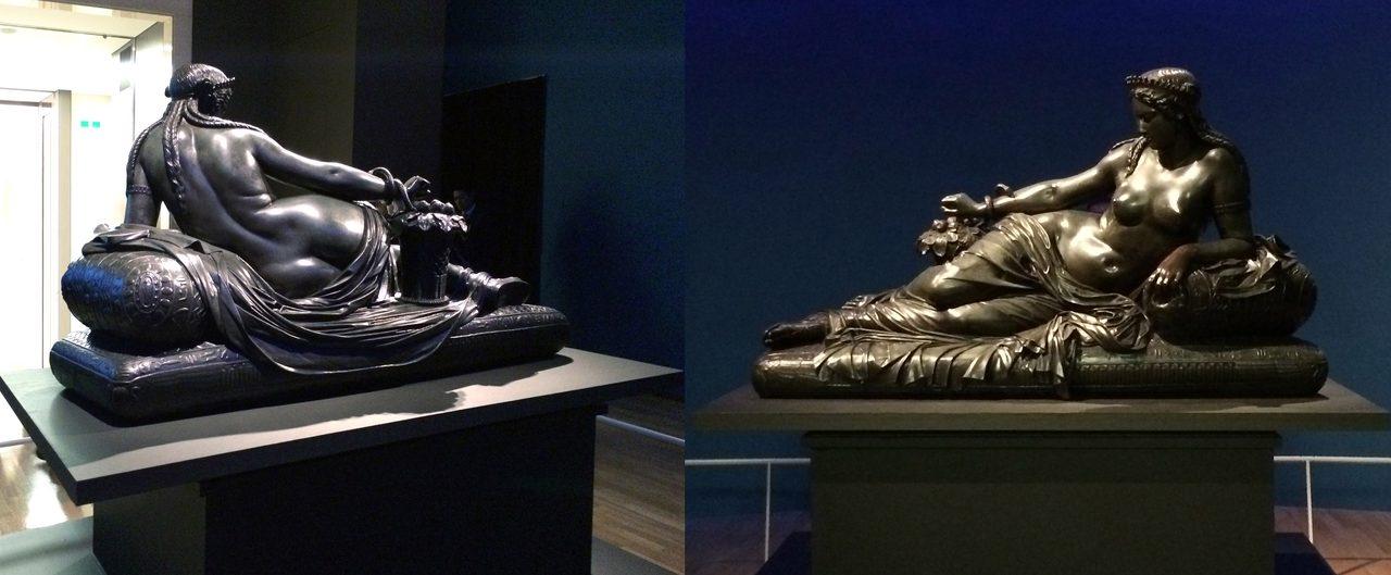 画像: 「クレオパトラ」の背面と正面 ダニエル・デュコマン・ドゥ・ロクレ作 1852~53年 マルセイユ美術館(フランス)所蔵 (C)cinefil art review