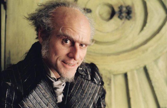 画像: 「レモニー・スニケットの世にも不幸せな物語 '04」オラフ伯爵を演じたジム・キャリー。 www.idigitaltimes.com