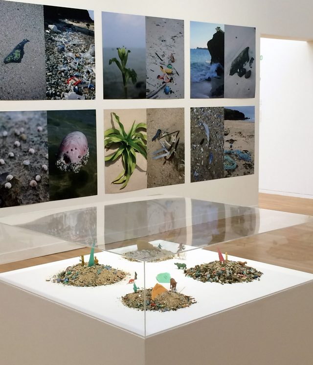 画像: 上の写真は「美しい自然」と「もう一つ同時にある現実」。手前は細かくなったプラスチック。(C)cinefil art review
