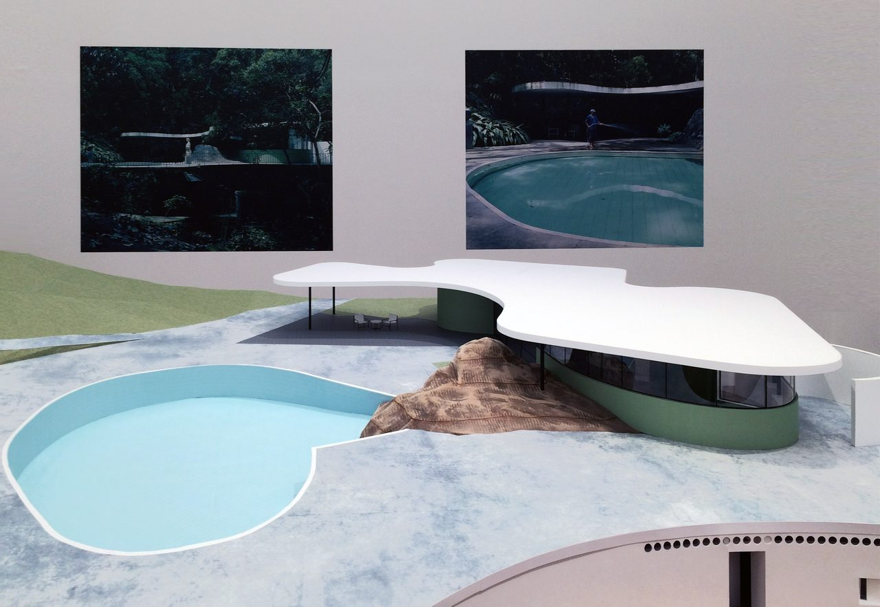画像: カノアスの邸宅(オスカー・ニーマイヤー自邸)の模型(C)cinefil art review