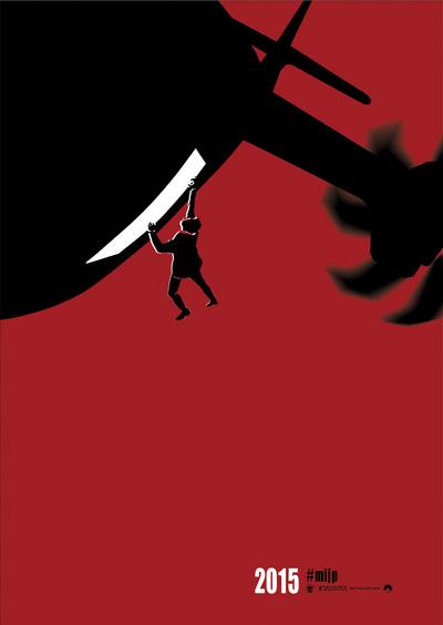 """画像: """"生身アクション""""をアイコン化したポスター。5種類ある。©2015 Paramount Pictures. All Rights Reserved. paramountjp.info"""