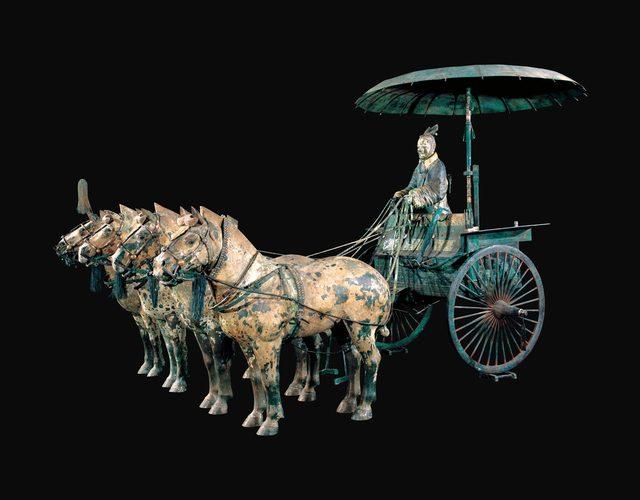 画像: 1号銅車馬(展示は複製)(原品 秦時代・前3世紀)、秦始皇帝陵博物院蔵 ©Shaanxi Provincial Cultural Relics Bureau & Shaanxi Cultural Heritage Promotion Center