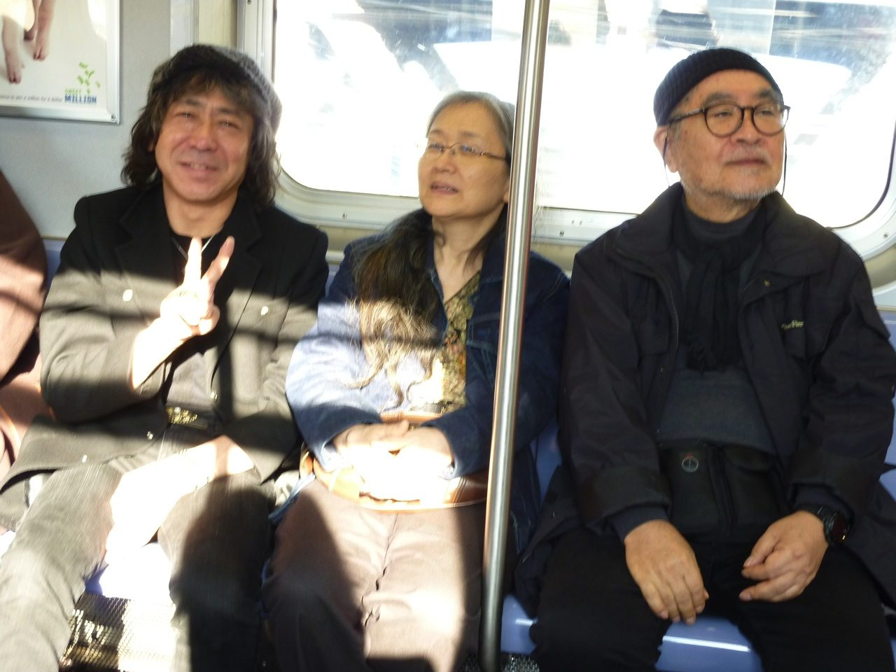 画像: Mark Higashino, a friend in NYC and Masayoshi Sukita photo: 2009 tomoyakumagai