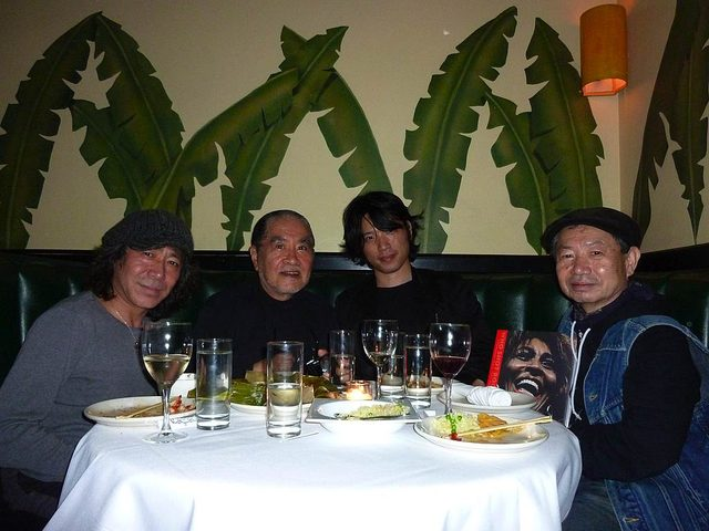 画像: Mark Higashino, Masayoshi Sukita, me and Masahiro Nogami in Indochine NYC 2009