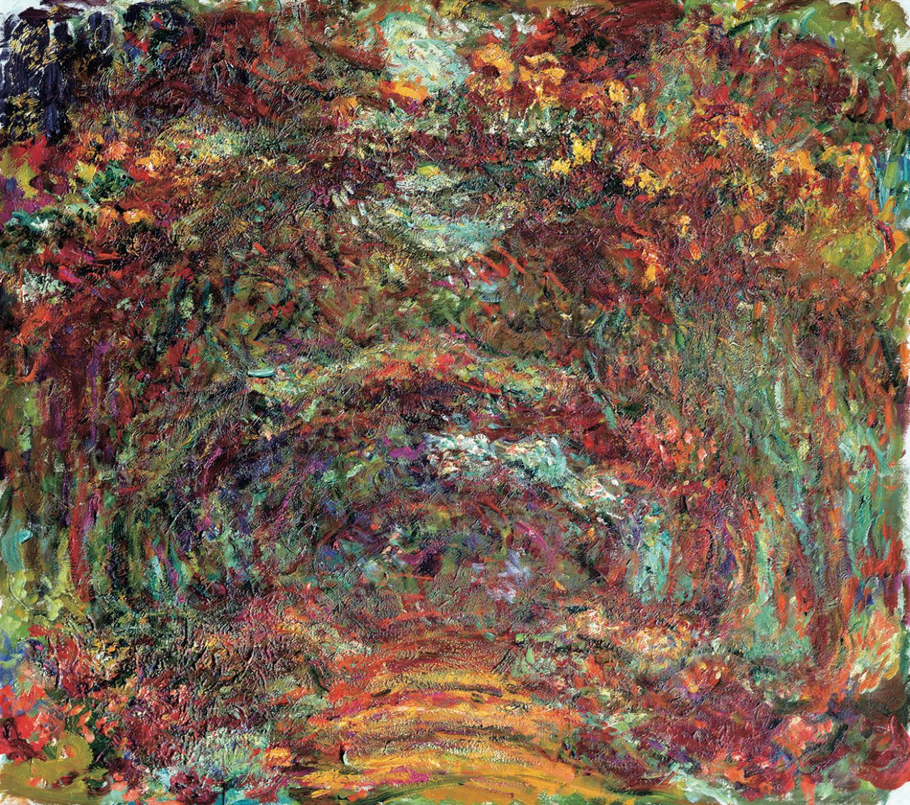 画像: クロード・モネ《バラの小道、ジヴェルニー》(1920-22年)  Musée Marmottan Monet, Paris © Bridgeman-Giraudon