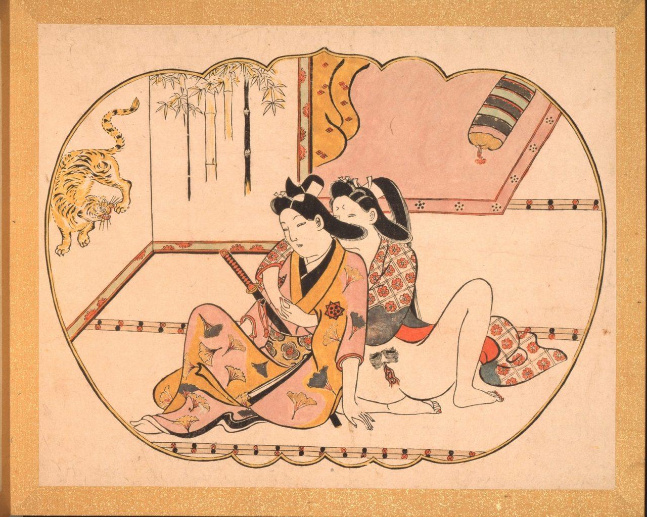 画像: 菱川師宣「枕絵組物」