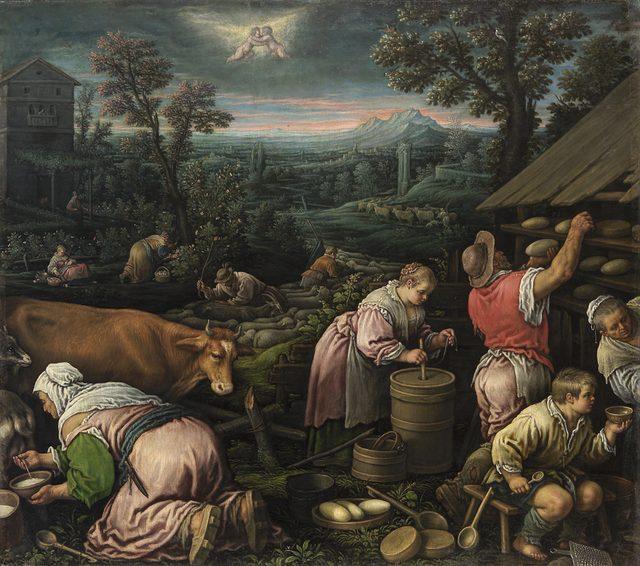 画像: レアンドロ・バッサーノ (通称) 《5月》 1580-85 年頃 油彩・キャンヴァス