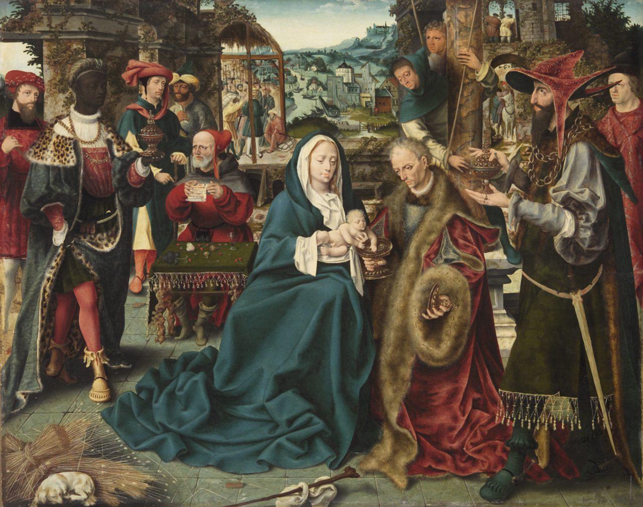 画像: 南ネーデルラントの画家 《東方三博士の礼拝》 1520 年頃 油彩・板