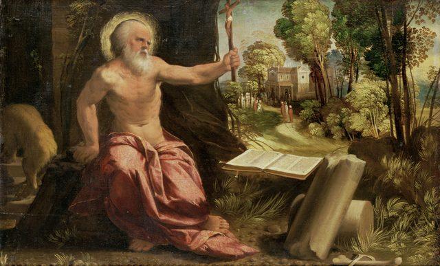 画像: ドッソ・ドッシ (通称) 《聖ヒエロニムス》 1517-19 年頃 油彩・キャンヴァス