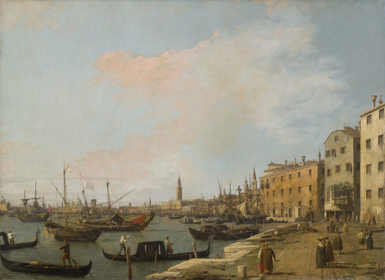画像: カナレット (通称) 《ヴェネツィアのスキアヴォーニ河岸》 1730 年頃 油彩・キャンヴァス