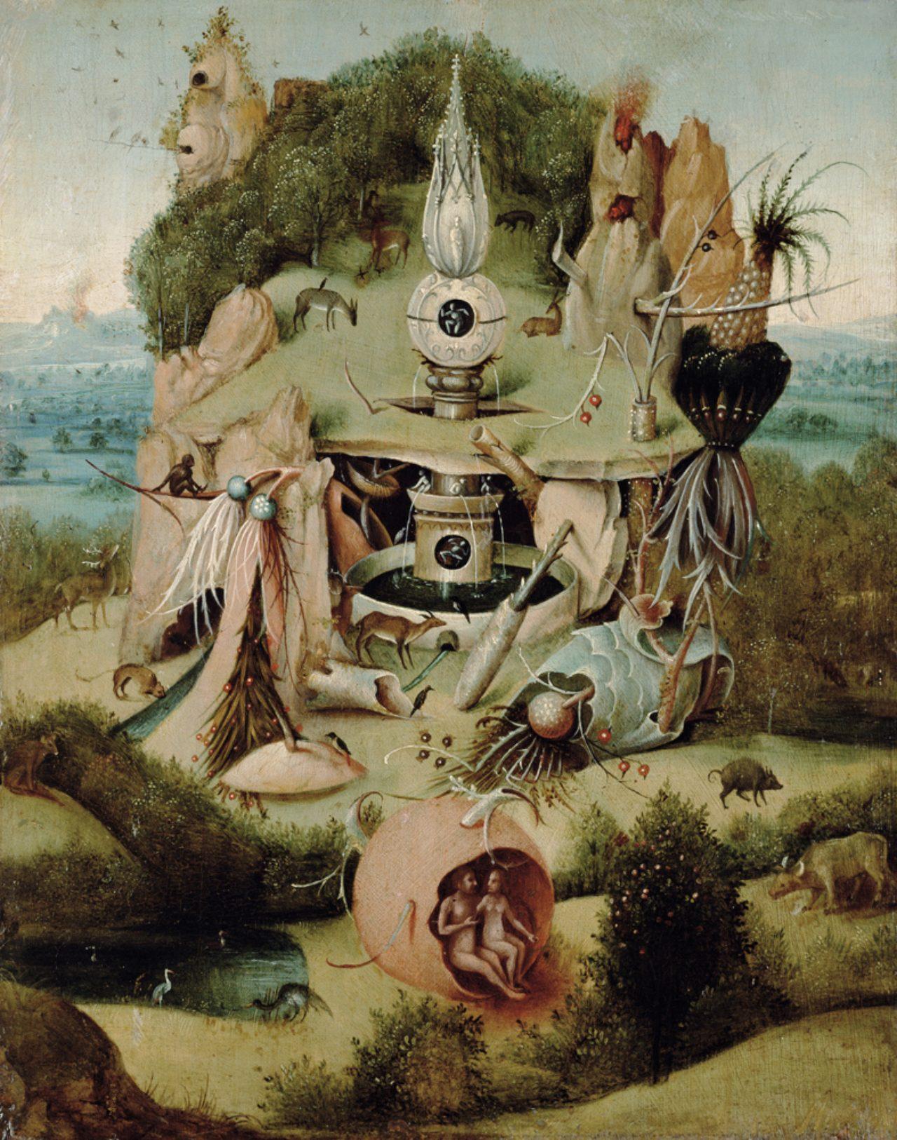 画像: ヒエロニムス・ボスの模倣者 《楽園図》 1540-50 年頃 油彩・板