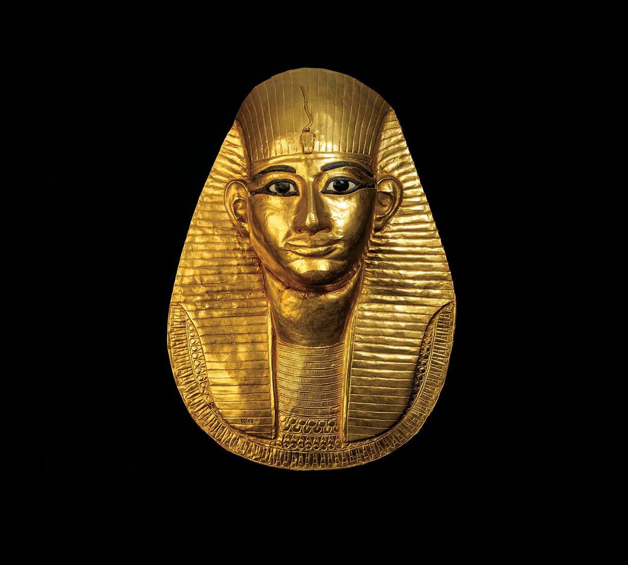 画像: アメンエムオペト王の黄金のマスク 第3中間期 第21王朝(前993~984年) 国立カイロ博物館蔵