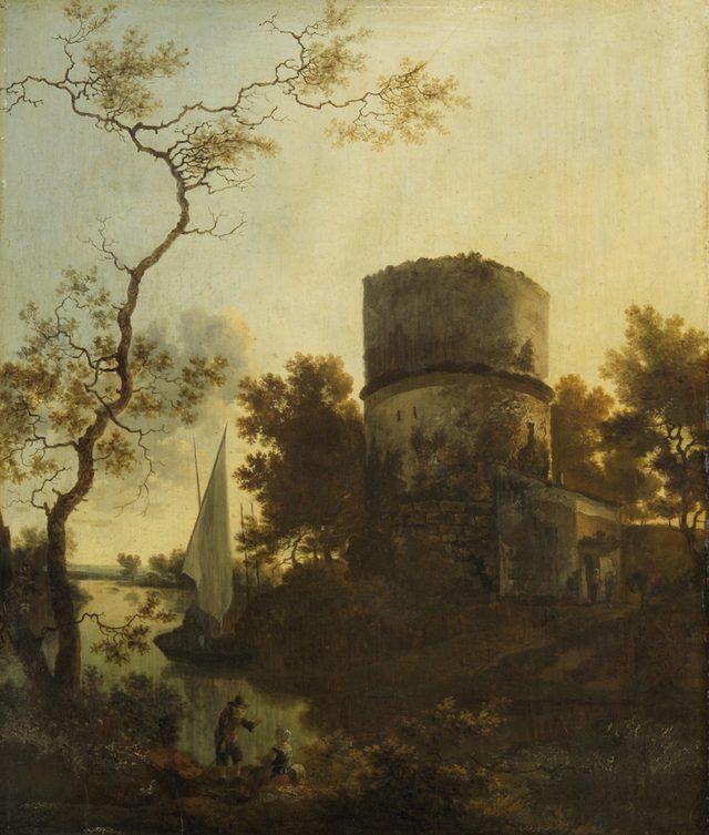 画像: アダム・ペイナーケル 《ティヴォリ付近の風景》 1648 年頃 油彩・板