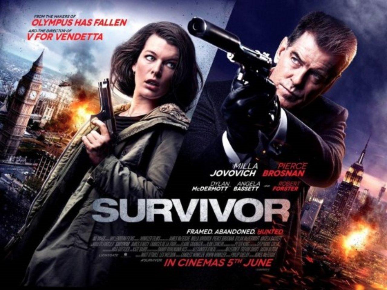 画像: 『バイオハザード』アリスVS『007』ボンド! - 映画『サバイバー』海外ポスタービジュアル - (c) 2015 SURVIVOR PRODUCTIONS, INC. ALL RIGHTS RESERVED.