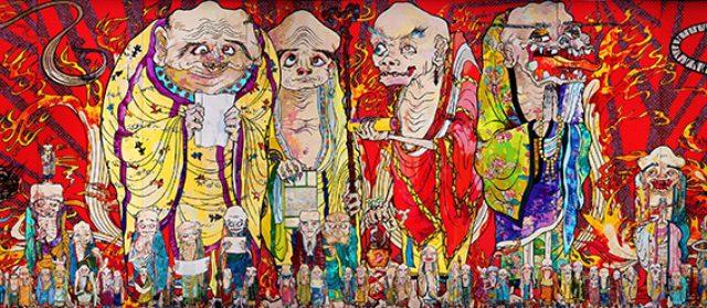 画像1: 村上 隆 《五百羅漢図》(部分) 2012年 アクリル、カンバス、板にマウント 302 x 10,000cm 個人蔵 ©2012 Takashi Murakami/Kaikai Kiki Co., Ltd. All Rights Reserved.