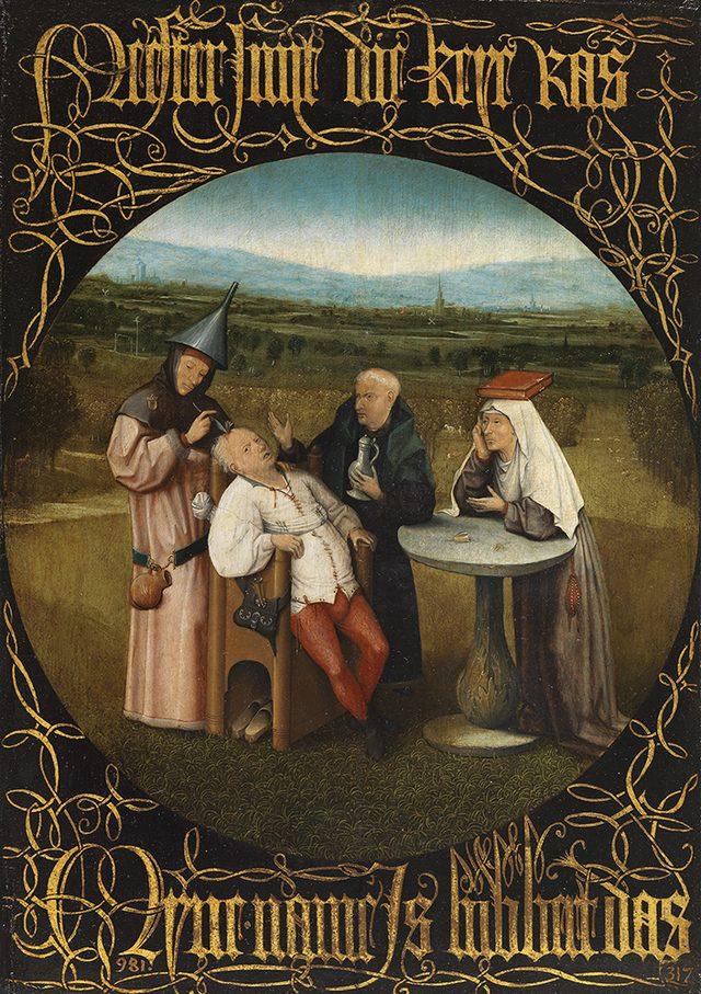 画像: ヒエロニムス・ボス《愚者の石の除去》1500-10年頃  油彩・板  48.5×34.5cm プラド美術館蔵 © Archivo Fotográfico, Museo Nacional del Prado. Madrid.