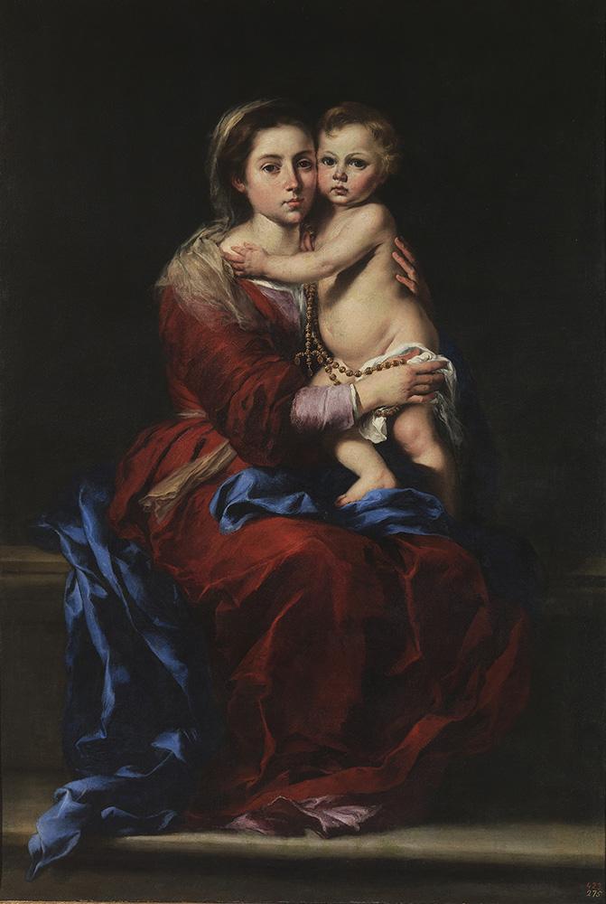 画像: バルトロメ・エステバン・ムリーリョ《ロザリオの聖母》1650-55年  油彩・カンヴァス 166×112cm プラド美術館蔵 © Archivo Fotográfico, Museo Nacional del Prado. Madrid.