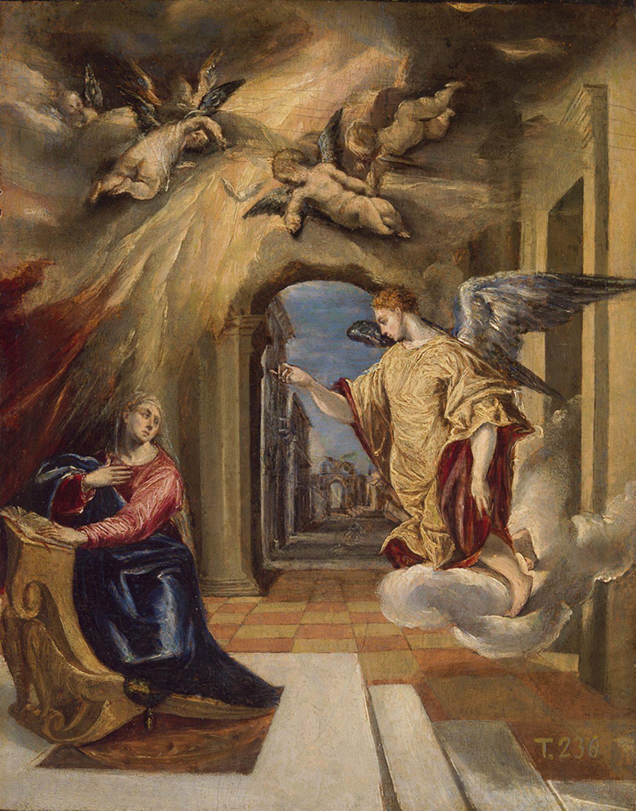 画像: エル・グレコ 《受胎告知》 1570-72年 油彩・板 26.7×20cm プラド美術館蔵 © Archivo Fotográfico, Museo Nacional del Prado. Madrid.