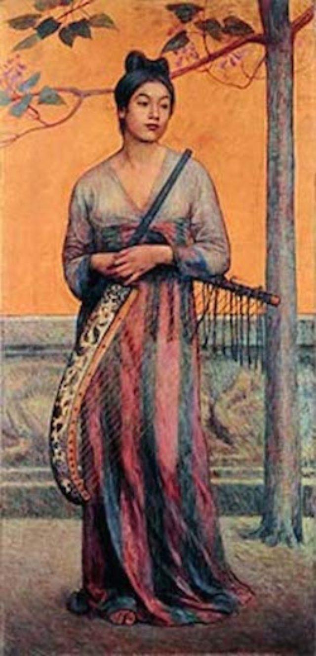 画像: 藤島武二 《天平の面影》 1902年 石橋財団石橋美術館 重要文化財(展示期間 10月31日~12月27日)