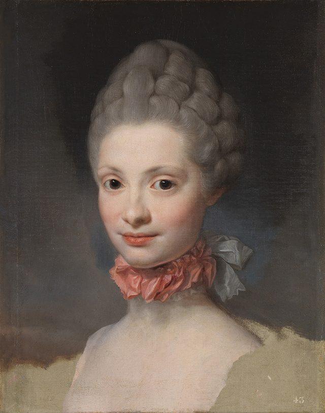画像: アントン・ラファエル・メングス《マリア・ルイサ・デ・パルマ》 1765年  油彩・カンヴァス 48×38cm プラド美術館蔵