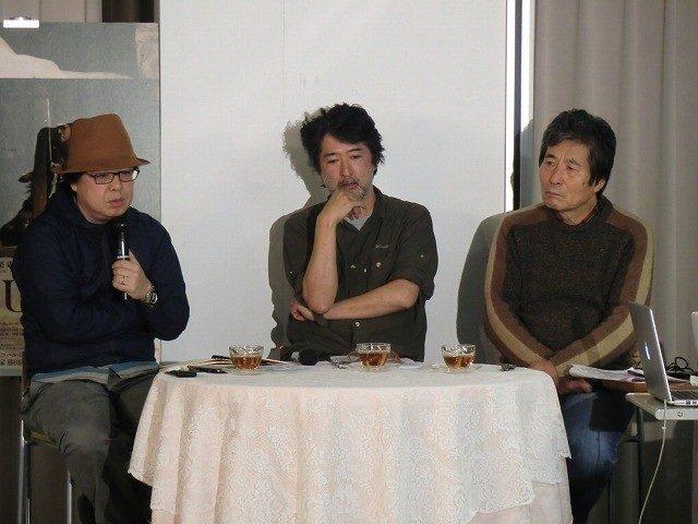 画像: 左から椹木野衣 会田誠 小栗康平 http://eiga.com/news/20151113/12/