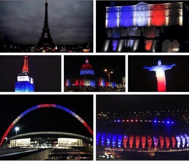 画像1: エッフェル塔も追悼で光り消す---9.11以来の世界的な大惨事、パリを直撃!多くの興業も中止、相次ぐ--。