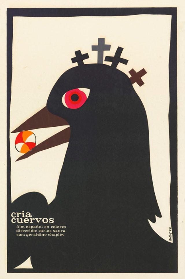 画像: 『カラスの飼育』(1976年/スペイン/カルロス・サウラ監督) ポスター:エドゥアルド・ムニョス・バッチ(1977年)