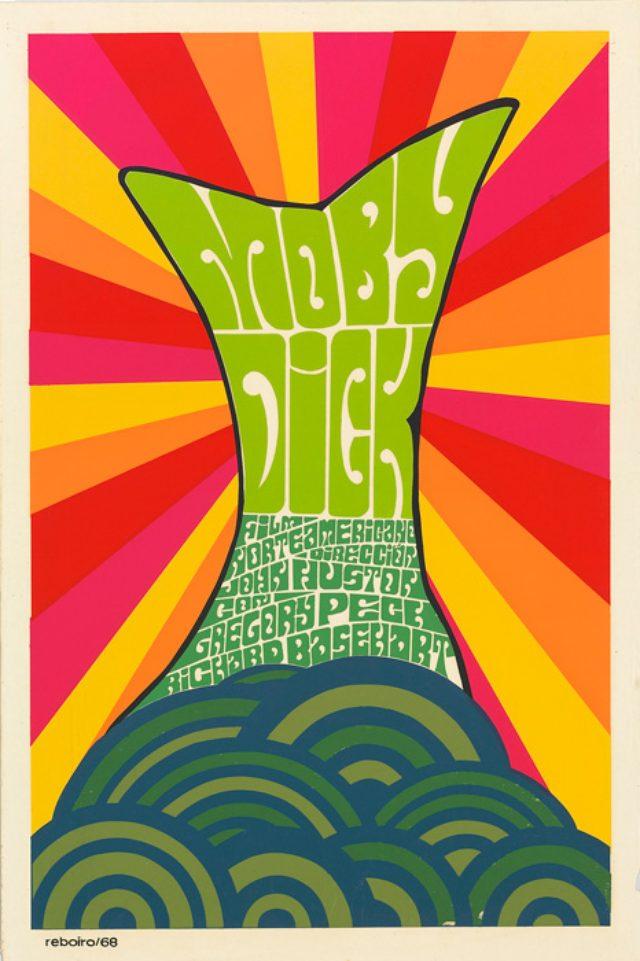 画像: 『白鯨』(1956年/アメリカ/ジョン・ヒューストン監督) ポスター:アントニオ・フェルナンデス・レボイロ(1968年)