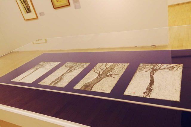 画像: 「樹木」寺田政明 コンテ、墨、紙 制作年不詳 - photo(C)mori hidenobu -cinefil art review