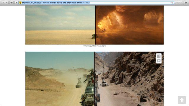 画像1: スクリーンショット 画面 http://brightside.me/article/17-favorite-movies-before-and-after-visual-effects-64705/
