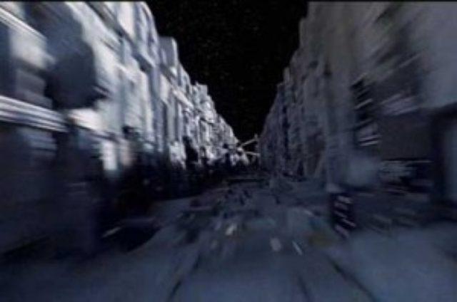 画像: 『スター・ウォーズ』から、デススターへのアタック場面。Xーウィングも背景も意図的にぶれさせています。この手法でスピード感を演出。