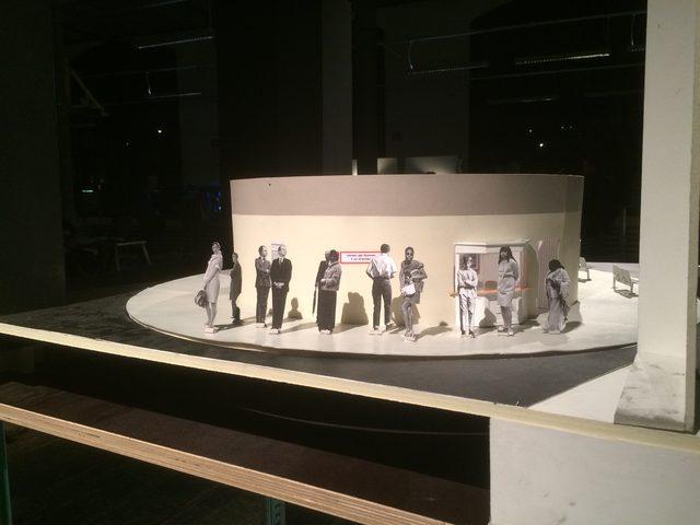 画像: 舞台デザインのクラス:デザイン模型の一部