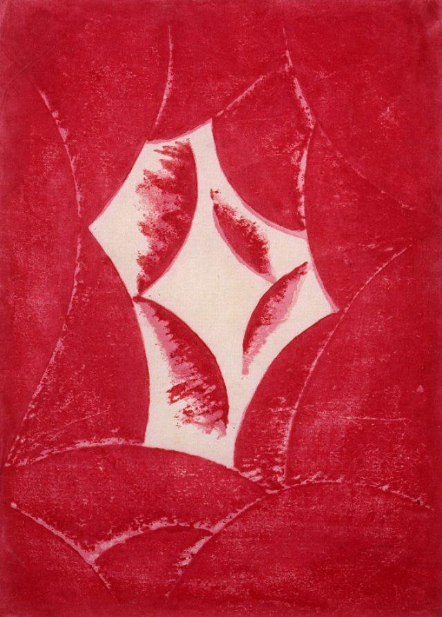 画像: 《抒情『あかるい時』》1915、木版・紙、東京国立近代美術館