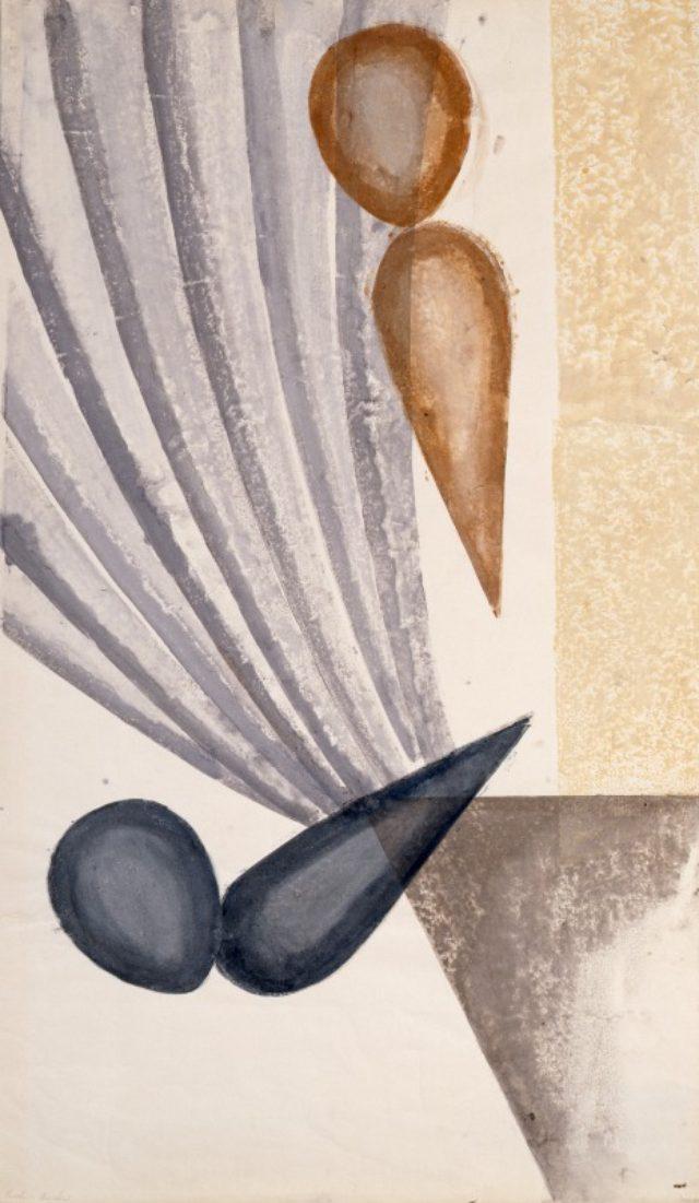 画像: 《リリック No.21 かげのある心情》1952、紙版・紙、ドゥファミリィ美術館