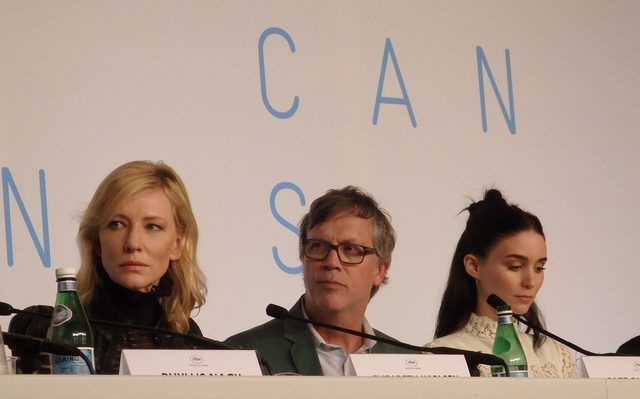 画像: 『キャロル』のカンヌ記者会見(左からケイト・ブランシェット、トッド・ヘインズ監督、ルーニー・マーラ) Photo by Yoko KIKKA