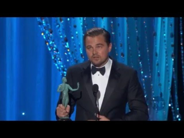 画像: Leonardo DiCaprio Acceptance Speech I 22nd SAG Awards youtu.be