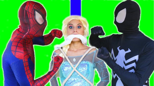 画像: Spiderman vs Venom vs Frozen Elsa - Elsa Kidnapped - Real Life Superheroes Movie youtu.be
