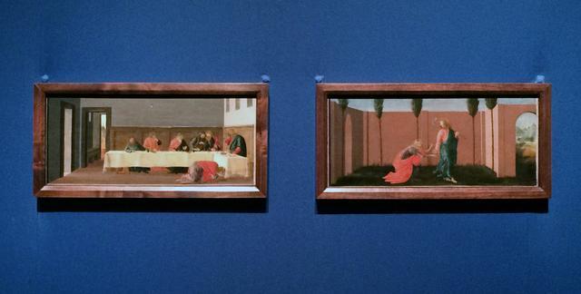 画像: 左:シモンの家の宴 サンドロ・ボッティチェリ 1470年代初頭 テンペラ/板 ©フィラデルフィア美術館 右:ノリ・メ・タンゲレ(我に触れるな) サンドロ・ボッティチェリ 1470年代初頭 テンペラ/板 ©フィラデルフィア美術館