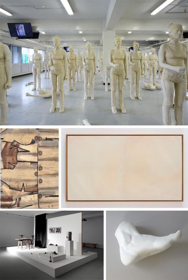 画像: [上] 《レベッカ》2012 Ishikawa Collection, Okayama imagineeringでの展示風景、2014 photo:koji Ishii courtesy of the artist and TARO NASU [中左] 《驚くべき獣たち》2015 courtesy of Marian Goodman Gallery, Paris courtesy of the artist and TARO NASU[中右] 《仮面(メルケル)》2015 courtesy of Dvir Gallery courtesy of the artist and TARO NASU [下左] 《再会のための予行練習(陶芸の父)》2011/2013 Ishikawa Collection, Okayama courtesy of Dvir Gallery courtesy of the artist and TARO NASU[下右] 《当世風結婚》2015 courtesy of the artist and TARO NASU https://www.operacity.jp/ag/exh184/