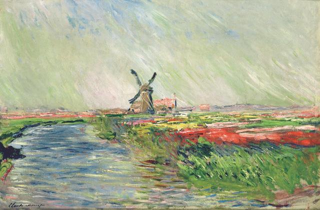 画像: クロード・モネ 《オランダのチューリップ畑》 1886年 Musée Marmottan Monet, Paris © Bridgeman-Giraudon