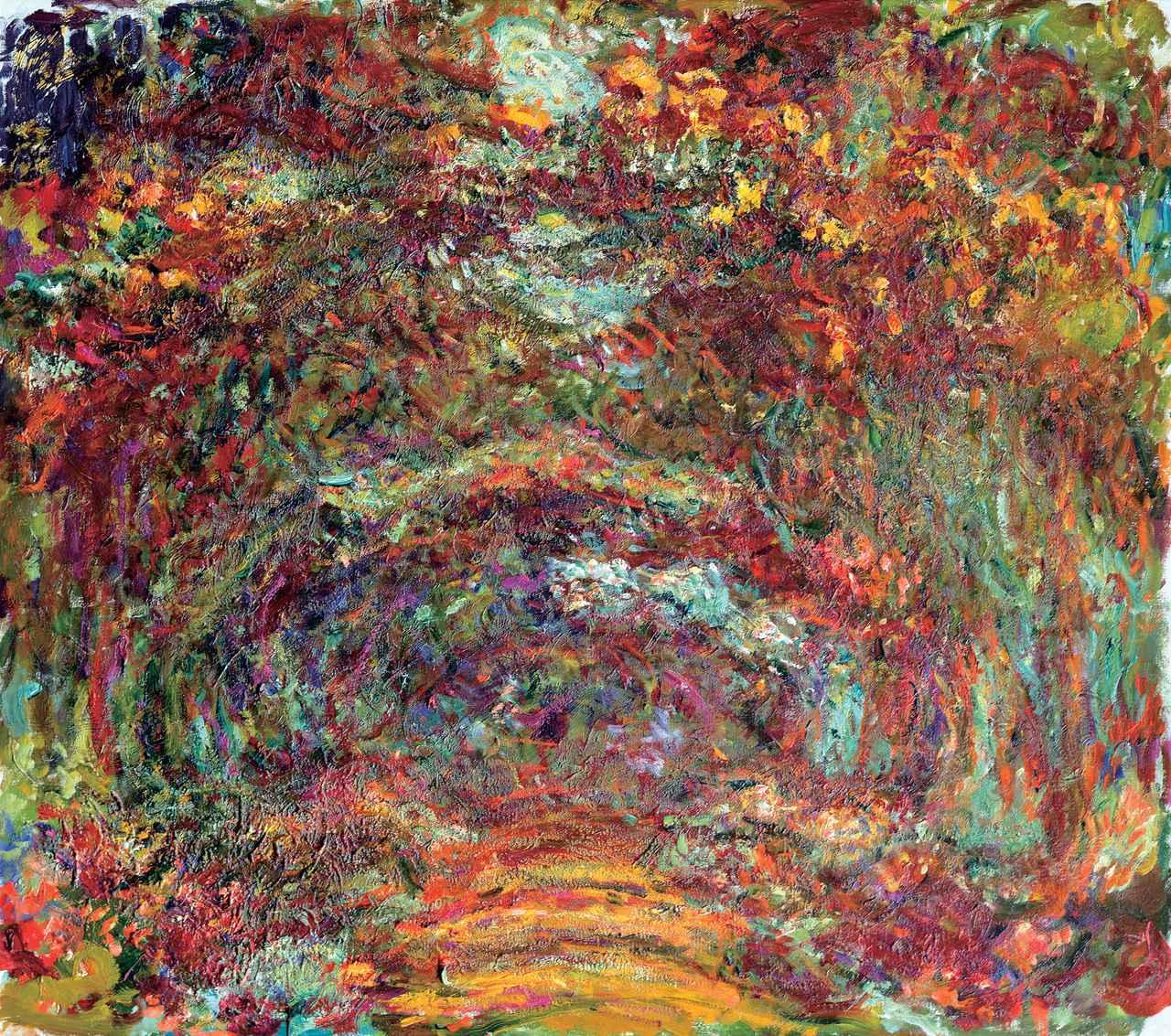 画像: クロード・モネ 《バラの小道、ジヴェルニー》 1920-22年 Musée Marmottan Monet, Paris © Bridgeman-Giraudon