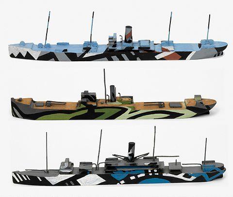 画像: 幻惑迷彩を実際のカラーで再現したイラスト画、まるでモダンな現代美術作品 margilt.wordpress.com