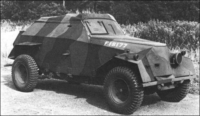 画像: ダンケルクからの脱出時に活躍したハンバレット(ハンバー・ライト・アーマード・カー )/ Humber light armored car: Humberette www.classiccarcatalogue.com