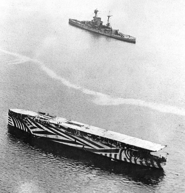 画像: 空母アーガス / HMS Argus (1918) publicdomainreview.org