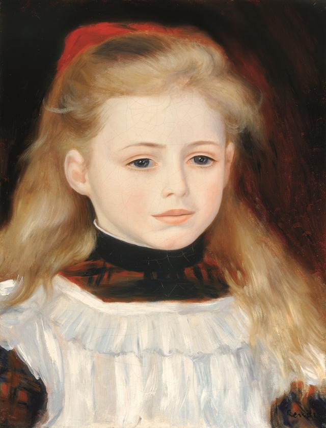 画像: ピエール=オーギュスト・ルノワール 《白いエプロンのリュシー・ベラールの肖像》 1884年 油彩・カンヴァス、35.2×27.1cmペレス・シモン・コレクション、メキシコ© Arturo Piera