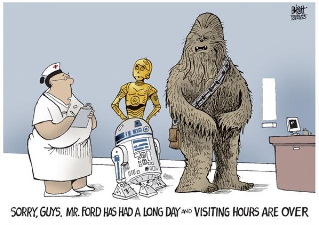 画像: 心配して駆けつけた3人組に.... 看護士「フォードさんにとっては、長い一日だったのよ、ご免なさい、面会時間は、とっくに過ぎてます」 fany-blog.blogspot.jp