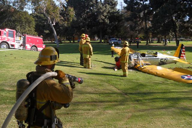 画像: ハリソンは、ゴルフコースに不時着後、緊急搬送されました。 casmat.org