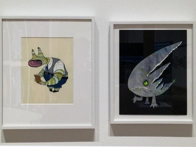 画像: 左:ジーフィー・ボードー あるモンスター 『モンスターズ・インク』(2001年) グアッシュ/フォトコピー 279x216mm 「©Disney/Pixar」 photo©cinefil