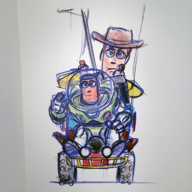 画像: ボブ・ウォーリー ウッディとバズ 『トイ・ストーリ』(1995年) マーカー、鉛筆/紙 203x241mm 「©Disney/Pixar」 photo©cinefil