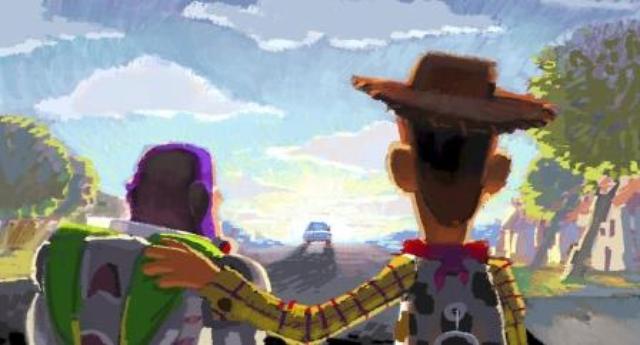 画像: ロバート・コンドウ(レイアウト:ジェイソン・カッツ、ジョン・サンフォード)《ビートボード:さよなら、アンディ》『トイ・ストーリー3』(2010年)デジタルペインティング 「©Disney/Pixar」